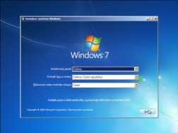 Recovery — instalace Windows 7