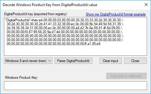finding windows license key